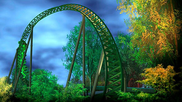 The Helix at Sweden's Liseberg will feature six inversions, including a pretzel loop, a heart-line roll and a pair of corkscrews.