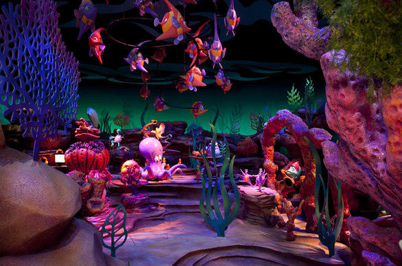 "Animatronic figures in the ""Under the Sea"" scene in the Little Mermaid ride at Disney California Adventure."