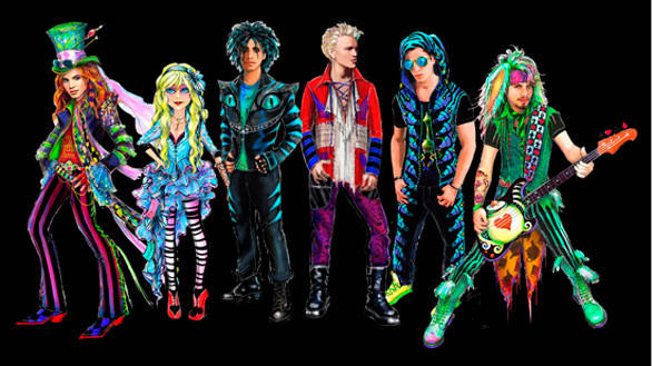 The Mad T Party house band at Disney California Adventure will feature hosts Alice and the Mad Hatter along with drummer Cheshire Cat, guitarist Dormouse, keyboardist Catepillar and bassist March Hare.