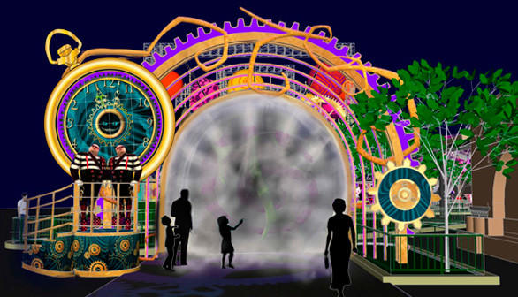 The Rabbit Hole will serve as the main entrance to the Mad T Party alcohol-infused nightclub at Disney California Adventure.