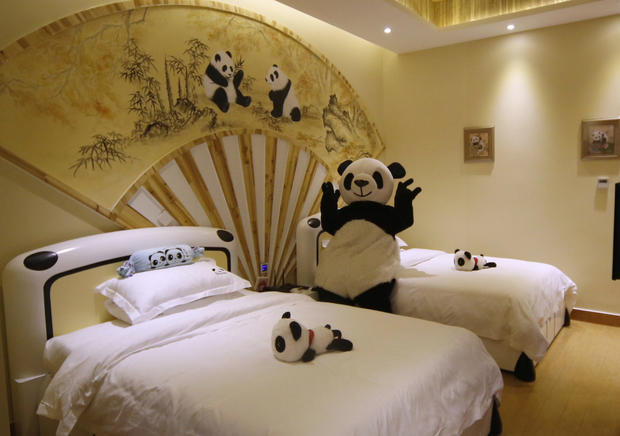 A standard room at the Panda Inn.