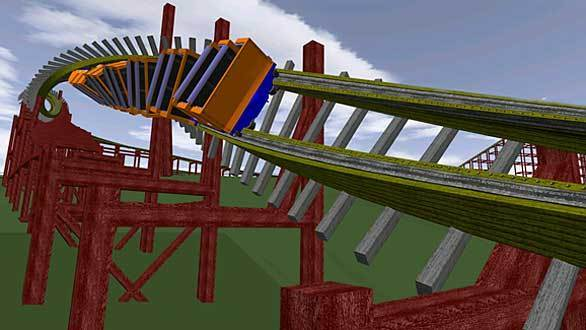 The Outlaw Run hybrid wood-steel coaster coming to Missouri's Silver Dollar City will feature a double barrel roll.