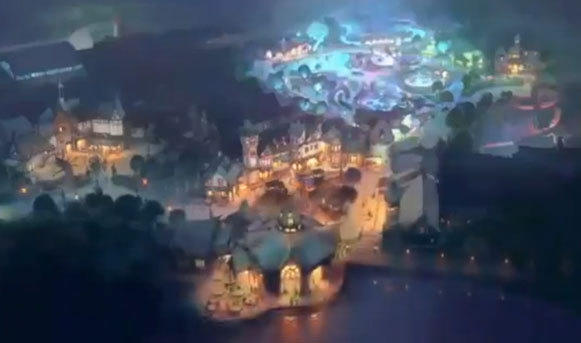 An overview of the Woodland Fantasy land at Paramount Park.