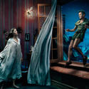 Dancer Mikhail Baryshnikov plays Peter Pan to supermodel Gisele Bündchen's Wendy Darling and Tina Fey's Tinker Bell.