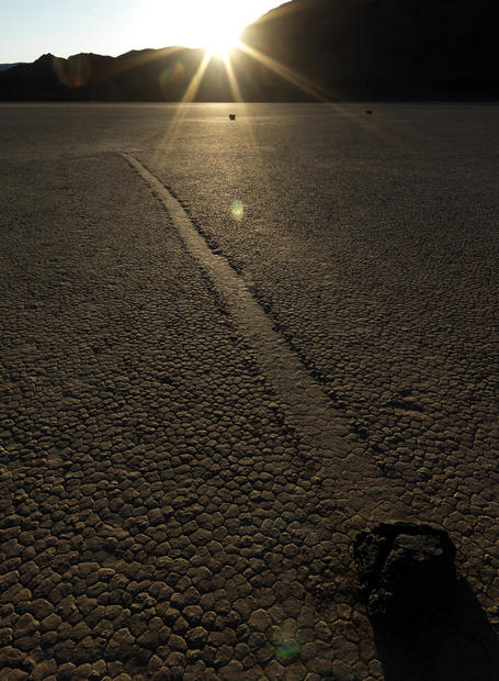 The Racetrack Playa at dusk.
