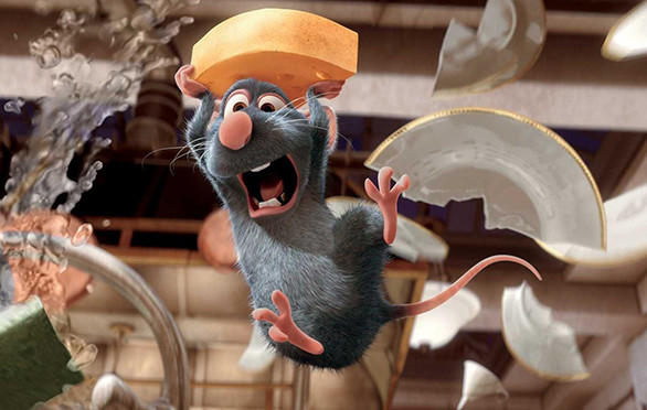 Riders on the new Ratatouille Kitchen Calamity attraction at the Walt Disney Studios theme park in France likely will be chased around Gusteau's kitchen. Above, a scene from the animated movie.