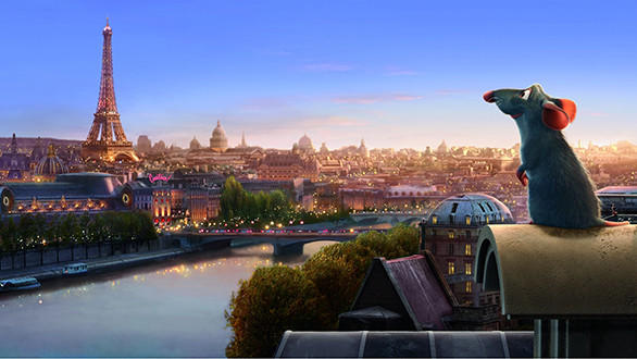 "While waiting in the Ratatouille Kitchen Calamity queue, riders are expected to be ""shrunk"" to the size of a rat before being chased around Paris. Above, a scene from the animated movie."