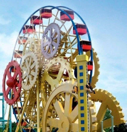 Robot Land would feature a giant wheel with a clockwork-gears motif similar to the London Eye.