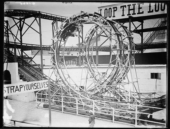 Looping roller coasters date to at least the mid 19th century. New York's Coney Island was home to several early looping coasters, including the 1901 Loop-the-Loop.