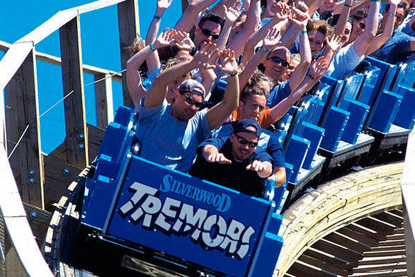 Rocky Mountain owner Fred Grubb got his start in the ride manufacturing business in the 1980s as the in-house coaster maker for Idaho's Silverwood theme park, building Tremors, above, and Timber Terror with Custom Coasters International.