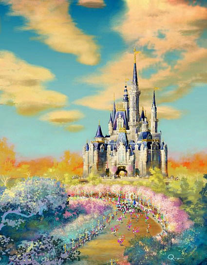Concept art of the Storybook Castle planned for the Shanghai Disneyland theme park released in April.