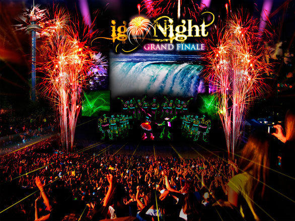 "At Six Flags Great America outside Chicago, the ""IgNight"" fireworks show will combine lasers, music, singing and dancing into a nighttime finale for the park."