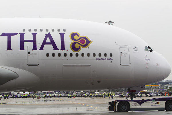 Thai Airways' A380 is equipped to seat 507 passengers, 12 in first, 60 in business and 435 in economy.