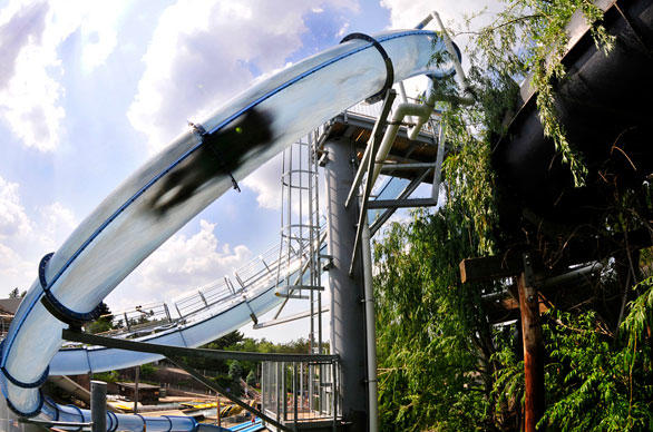 8. Noah's Ark water park in Wisconsin landed one of the first AquaLoop water slides in the United States. The water thrill rides are all the rage in Europe and Asia.