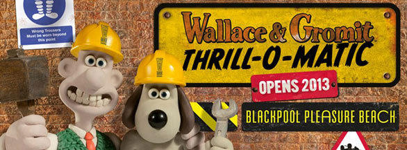 The Wallace & Gromit Thrill-O-Matic dark ride coming to Blackpool Pleasure Beach will whisk visitors through the world of the eccentric cheese-eating inventor and his anthropomorphic dog.