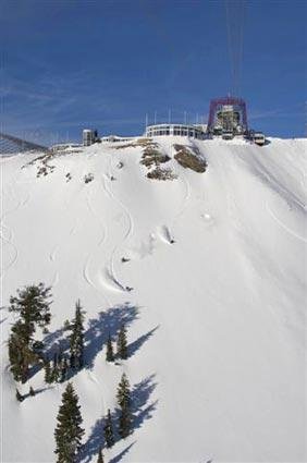 "<b>Squaw Valley USA near Lake Tahoe</b><br> <br> It's called the Hot Date on Ice package (lodging isn't included), and for $149 per couple (plus tax) you get:<br> <br> -- Five-course dinner prepared by ""Top Chef"" guest Scott Rutter (starting with portobello fries and smoked pheasant soup and finishes with warm souffle cake) and Champagne<br> <br> -- Scenic cable car ride<br> <br> -- An ice-skating session at 8,200 feet that overlooks Lake Tahoe<br> <br> <i>(530) 452-7244; <a href=""http://www.squaw.com/"">Squaw.com</a></i>"