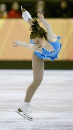 Emily Hughes of the United States performs in the long program of the women's figure skating competition.