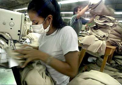 Employees at a clothing factory in San Pedro Sula, Honduras.