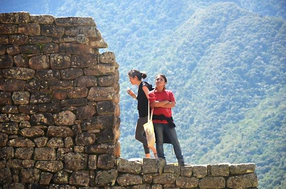 On busy days, more than 2,000 travelers enter Machu Picchu. Photo taken in 2011.