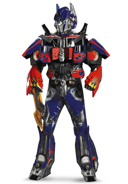 Adult authentic Optimus Prime costume, $324.99.