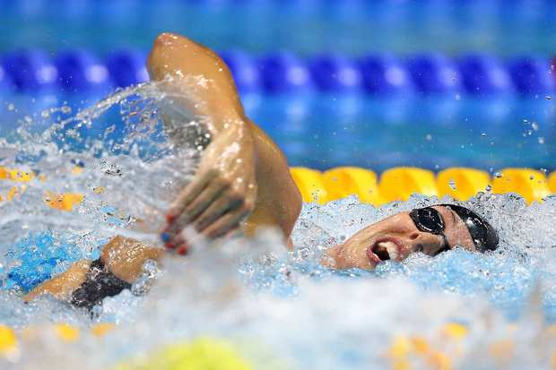 Allison Schmitt of the United States competes in the women's 200m freestyle final. She won the gold medal.