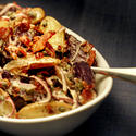 Roasted potato salad with bacon