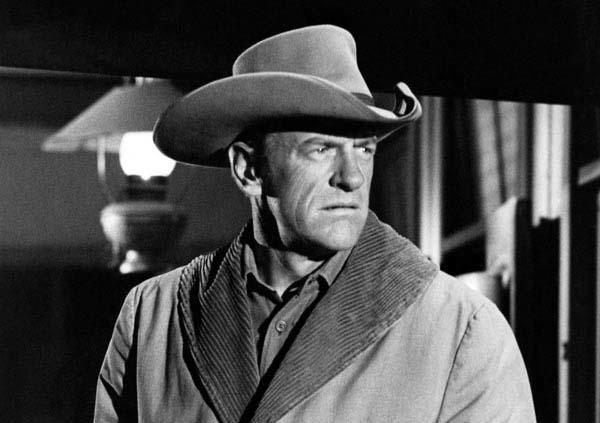 "Arness portrays Marshal Dillon in a scene from ""Gunsmoke"" in 1967.<br>