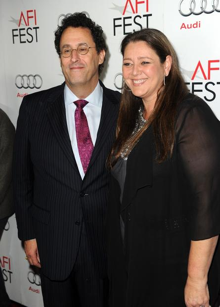 """Lincoln"" writer Tony Kushner, left, and actress Camryn Manheim."