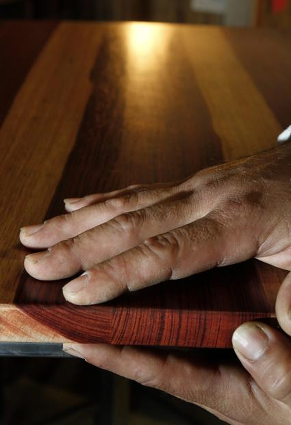 Sal Tamayo quit a 20-year career as a finish carpenter to devote his woodworking and welding skills to making these one-of-a-kind pieces.