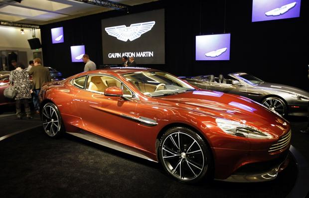 The 2014 MY Aston Martin Vanquish Coupe at the L.A. Auto Show.