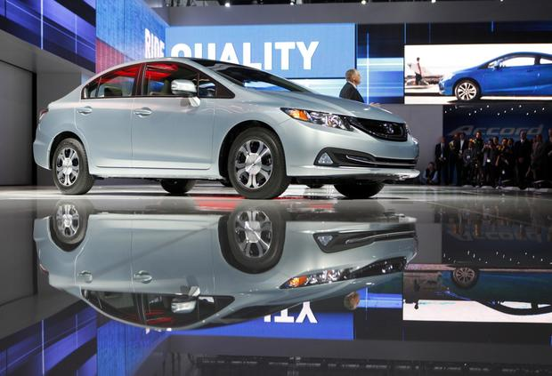 The 2013 Honda Civic is introduced at the L.A. Auto Show.