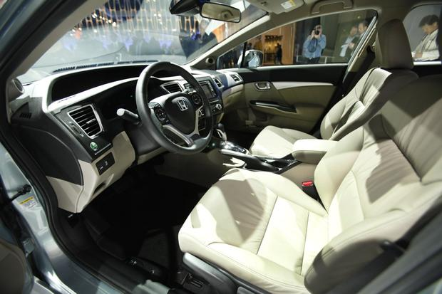 Interior view of the 2013 Honda Civic.