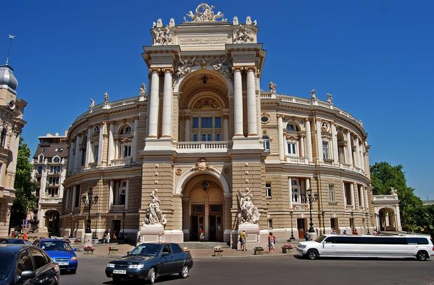 A port stop in Odessa is a chance to see the elegant architecture of this city in the Ukraine, including the opera house, completed in 1887.