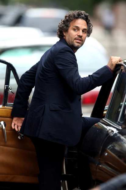 "Mark Ruffalo on location in Manhattan for the filming of ""Can A Song Save Your Life?""."