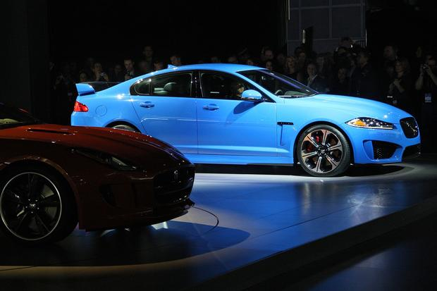 "The Jaguar XFR-S has its world debut at the L.A. Auto Show. The four-door sedan will have a supercharged V-8, making 550 horsepower.<br><b>More: </b><a href=""http://www.latimes.com/business/autos/la-fi-autos-laas-jaguar-land-rover-20121128,0,1857997.story"" target=""_blank"">Jaguar touts F-Type, redesigned Range Rover and XFR-S, which will have only 100 copies in U.S. for 2014</a>"