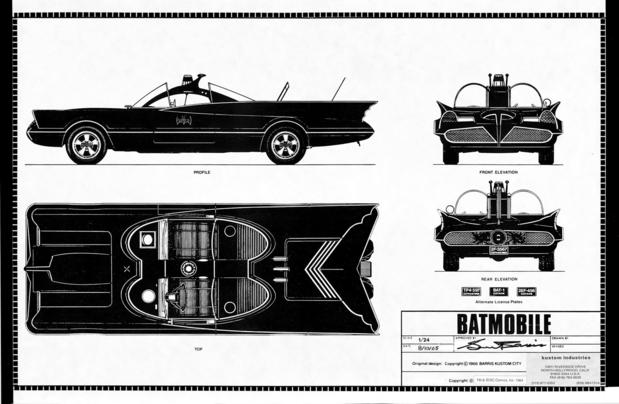 The Batmobile was created by famed car customizer George Barris.