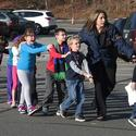 Children escorted from the school