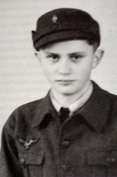 A 1943 photo of Joseph Ratzinger as a German air force assistant during World War II.