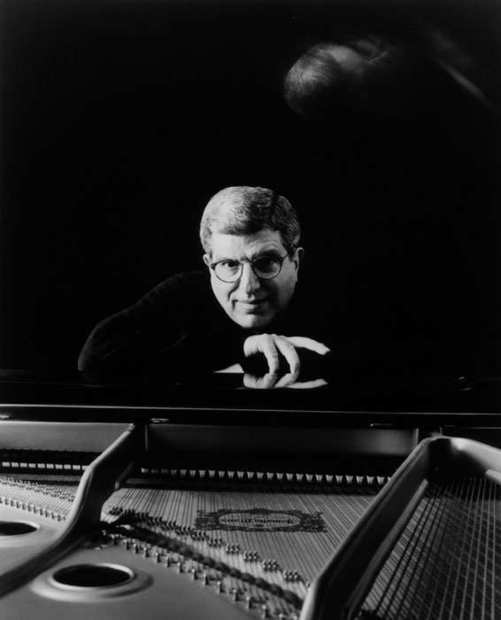 "Marvin Hamlisch at San Diego's Old Globe Theater in 2002 preparing for the premiere of ""Imaginary Friends."""