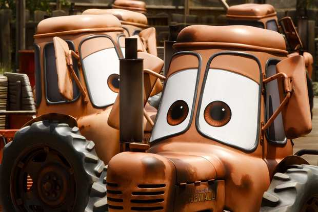 "Mater's Junkyard Jamboree brings the rusty old tow truck character from the ""Cars"" movie to life in Cars Land at Disney California Adventure."