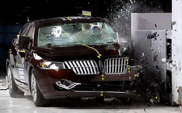 "The 2012 Lincoln MKZ received a ""marginal"" rating. In the insurance group's test, the car's front driver's-side corner rams into a 5-foot-tall rigid barrier at 40 mph."