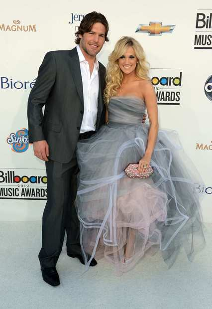 NHL player Mike Fisher and singer Carrie Underwood.