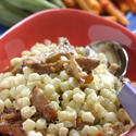 Braised corn with chanterelles