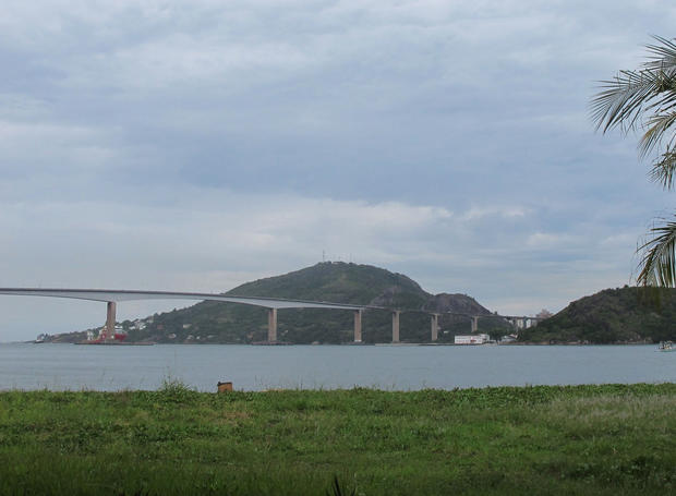 Third Bridge, which connects Vitoria to mainland Brazil, as seen from a bus.
