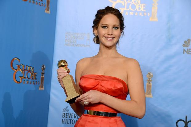 "Jennifer Lawrence raised her share of eyebrows when she beat out Meryl Streep for the Globe for actress in a musical or comedy for ""Silver Linings Playbook,"" but she raised even more eyebrows when she began her speech by telling the room, ""What does this say? I beat Meryl."" No word on Streep's reaction -- she was reportedly home with the flu."
