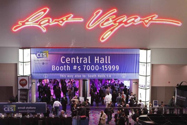 Crowds pack the Grand Lobby of the Las Vegas Convention Center on the first day of the Consumer Electronics Show.