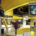 Nikon booth takes shape