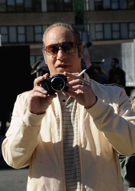 Andrew Dice Clay films on location for the Untitled Woody Allen Summer Project on Sept. 19, 2012, in New York City.