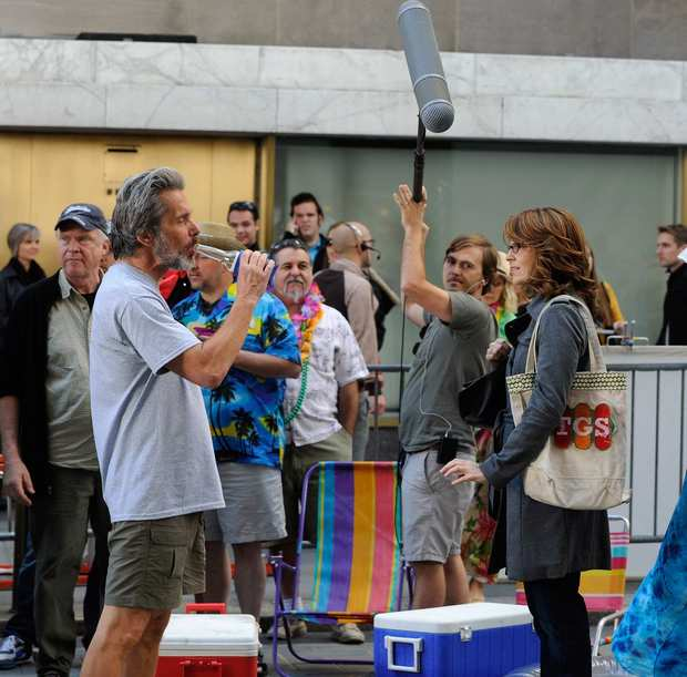 "Tina Fey and Gary Cole film on location for ""30 Rock"" in New York City."
