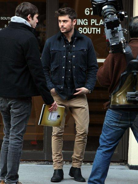 "Actor Zac Efron on the set of ""Are We Officially Dating?"" in New York City."